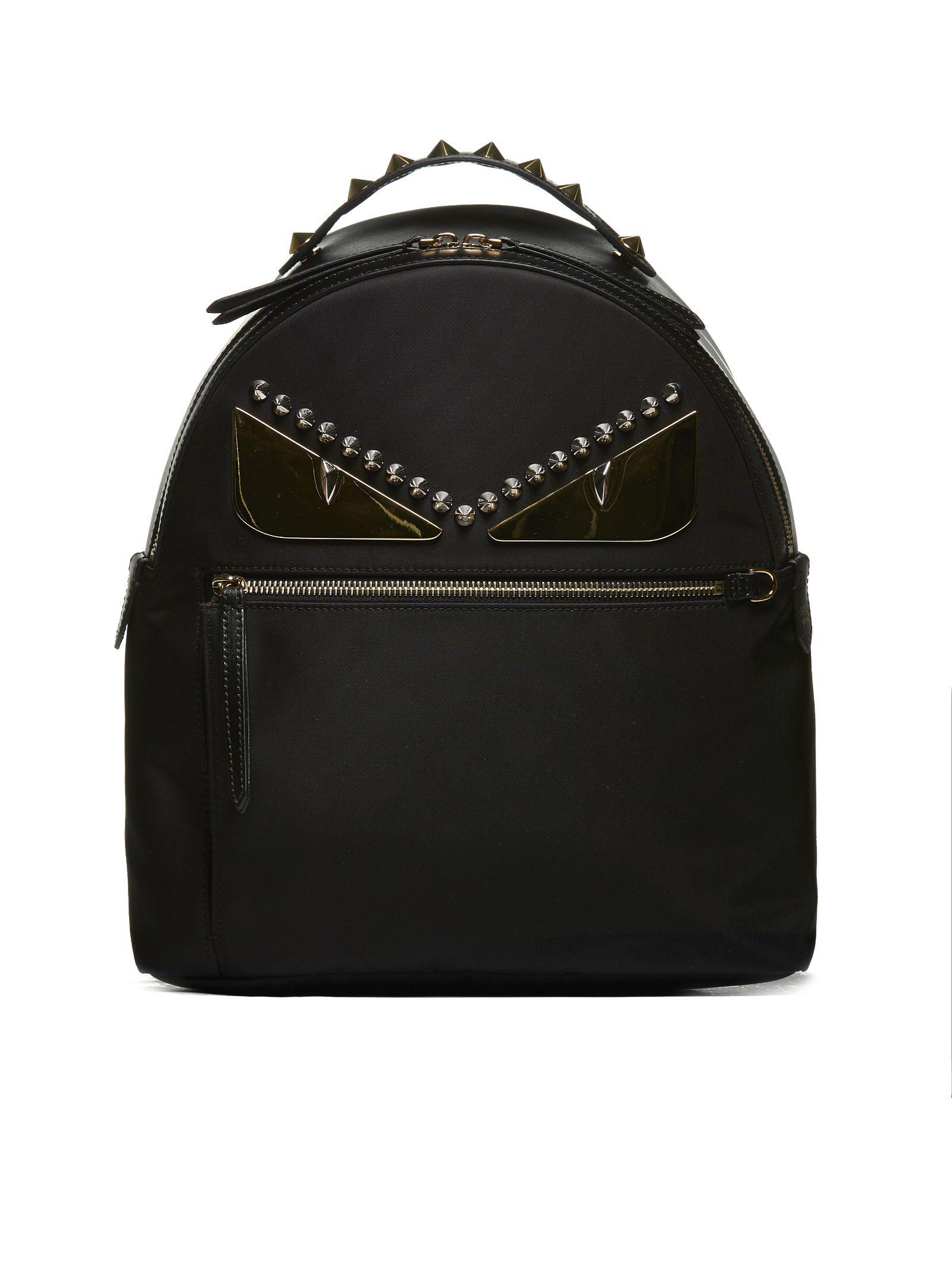 Fendi Bag Bugs Backpack In Nero Oro  209e1752b06ee