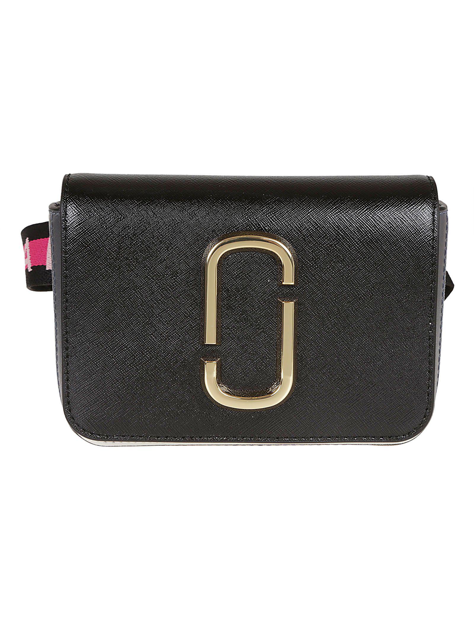 Double J Logo Belt Bag in Nero