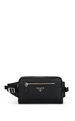 b154d81b1a2e Prada Men's Saffiano Leather Travel Belt Bag/Fanny Pack In Black ...