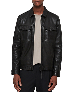 Allsaints Revelry Leather Jacket In Black