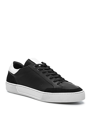 bd703d4928d The Kooples Men's Leather & Suede Lace-Up Sneakers In Black | ModeSens