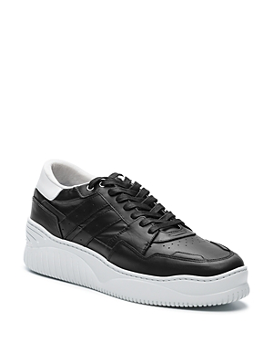 feb7b57cebd The Kooples Men's Lace-Up Leather Sneakers In Black | ModeSens