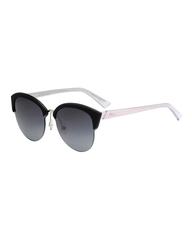 7ad5acbafc18 Dior Run Capped Cat-Eye Sunglasses In Black