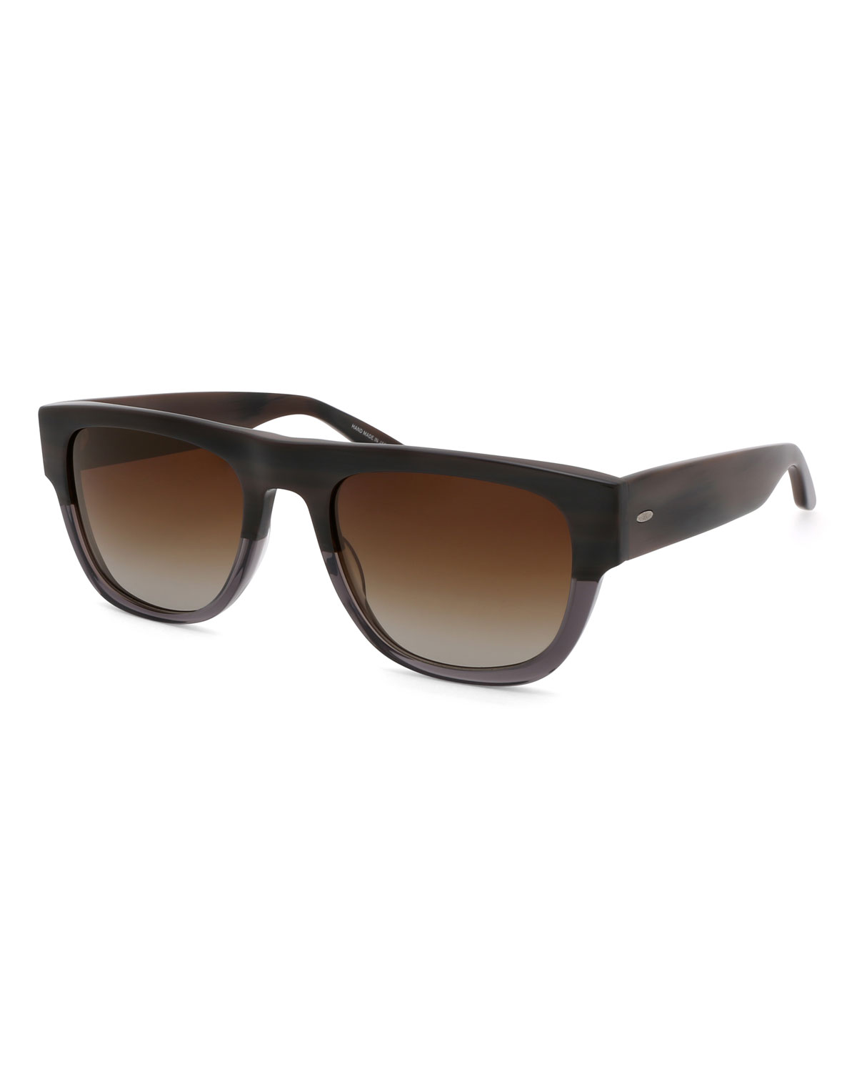 adf13a12aa0 Barton Perreira Men s Kahuna Square Acetate Sunglasses In Dark Brown ...