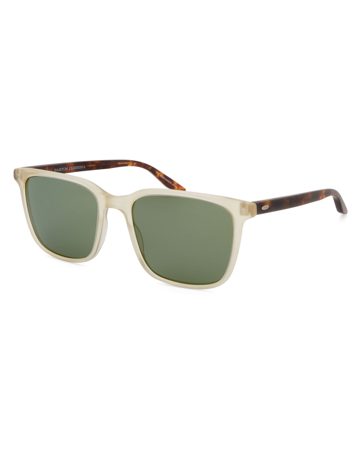 69a0d2379a8d9 Barton Perreira Men s Heptone Two-Tone Acetate Sunglasses In White Brown
