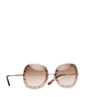 Tory Burch 58Mm Gradient Square Sunglasses - Rose Gold/ Brown Gradient