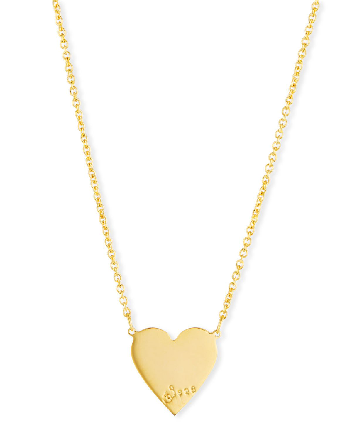 7dadfd8d5cfeff Sarah Chloe Lily Solid Heart Pendant Necklace In Gold   ModeSens