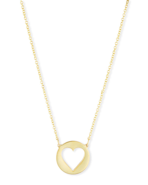 6da076d8ca0c0d Sarah Chloe Eva Cutout Heart Pendant Necklace In Gold   ModeSens