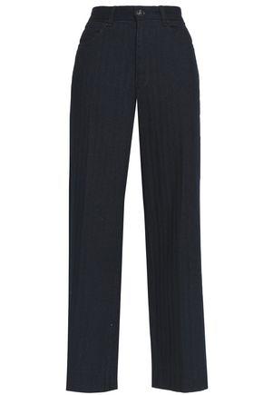 Rag & Bone Woman Cotton Wide-leg Pants Indigo
