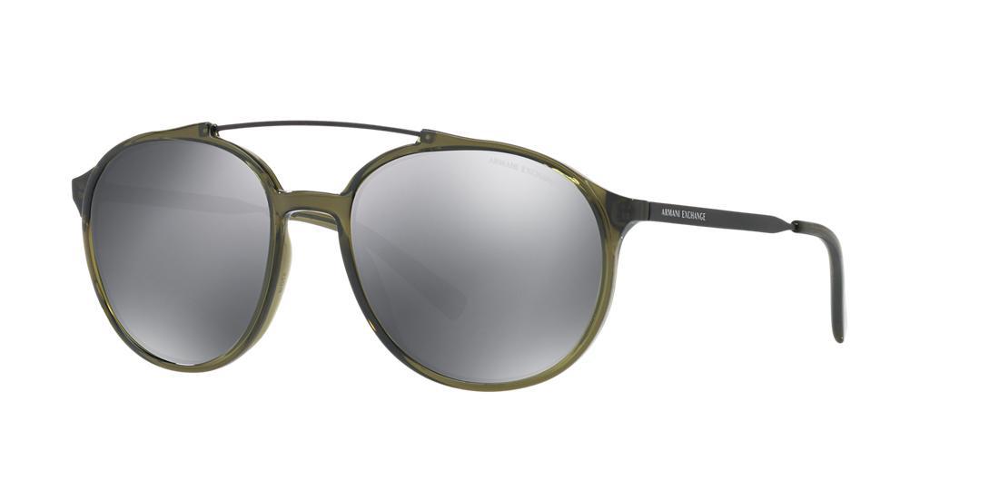 0fe1f0cc325 Armani Exchange Ax4069Sf 57 Clear Round Sunglasses In Clear Frames Grey  Lenses