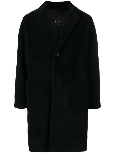 Hevo Single Breasted Coat In Black