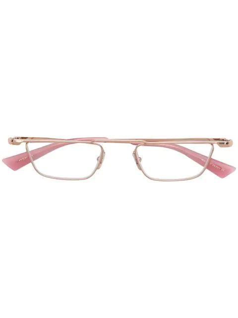 Christian Roth Geometric Glasses In Pink
