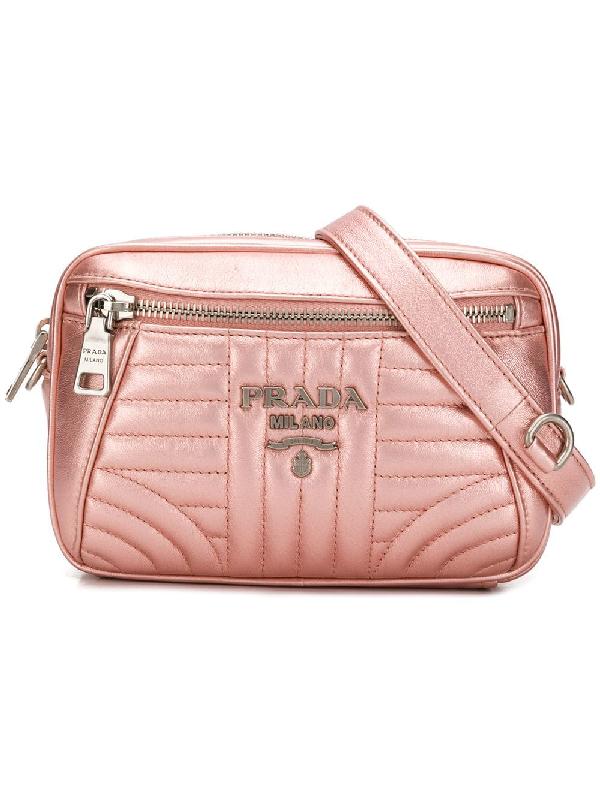 a91e6f7077a54c Prada Quilted Belt Bag - Pink | ModeSens