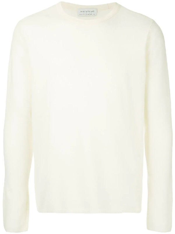 bcd8cb56f967d8 Tomorrowland Crew Neck Jumper In White. SIZE & FIT INFORMATION