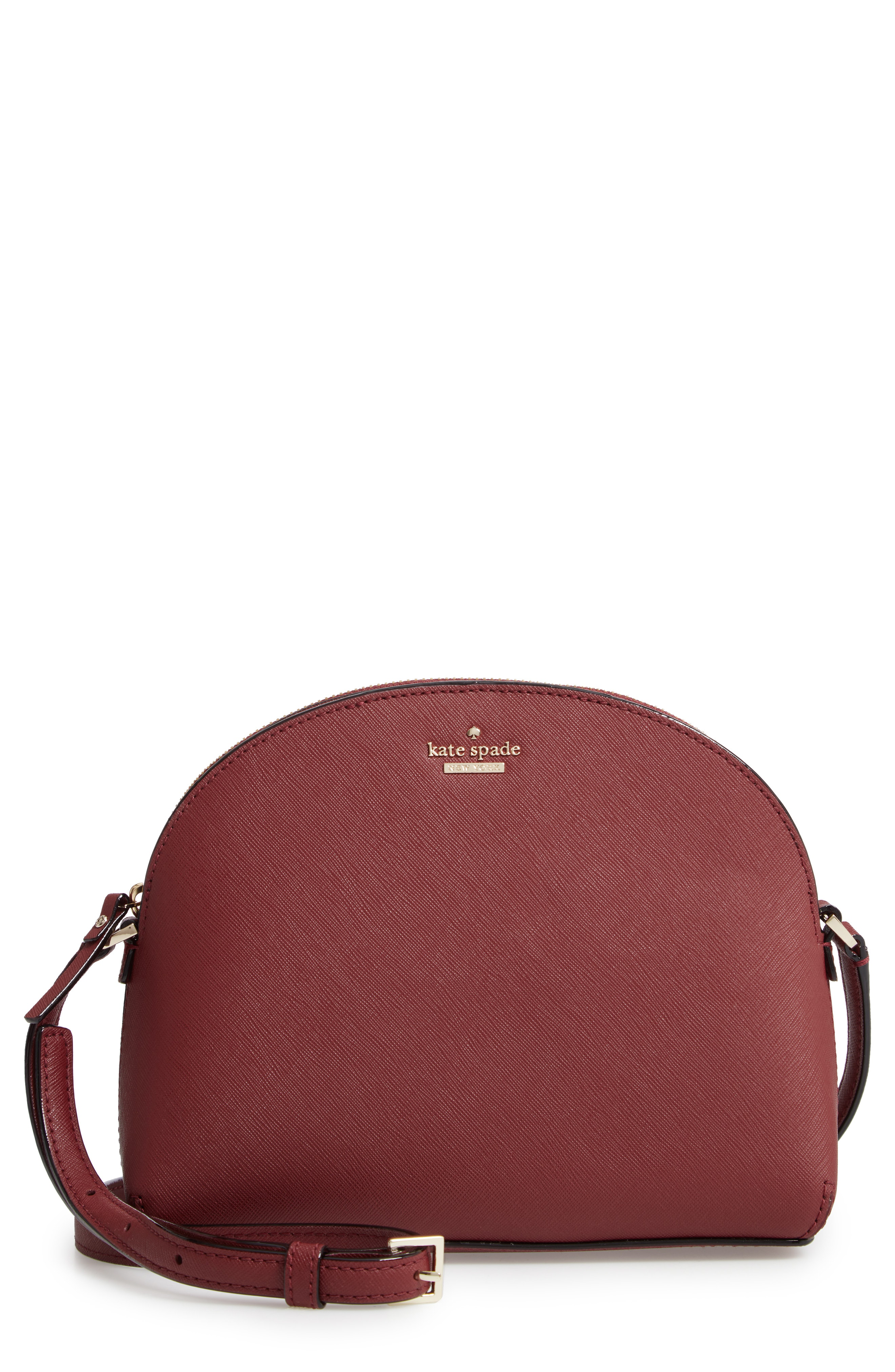 5d54149864f57d Kate Spade Cameron Street Large Hilli Leather Crossbody Bag - Red In Sienna