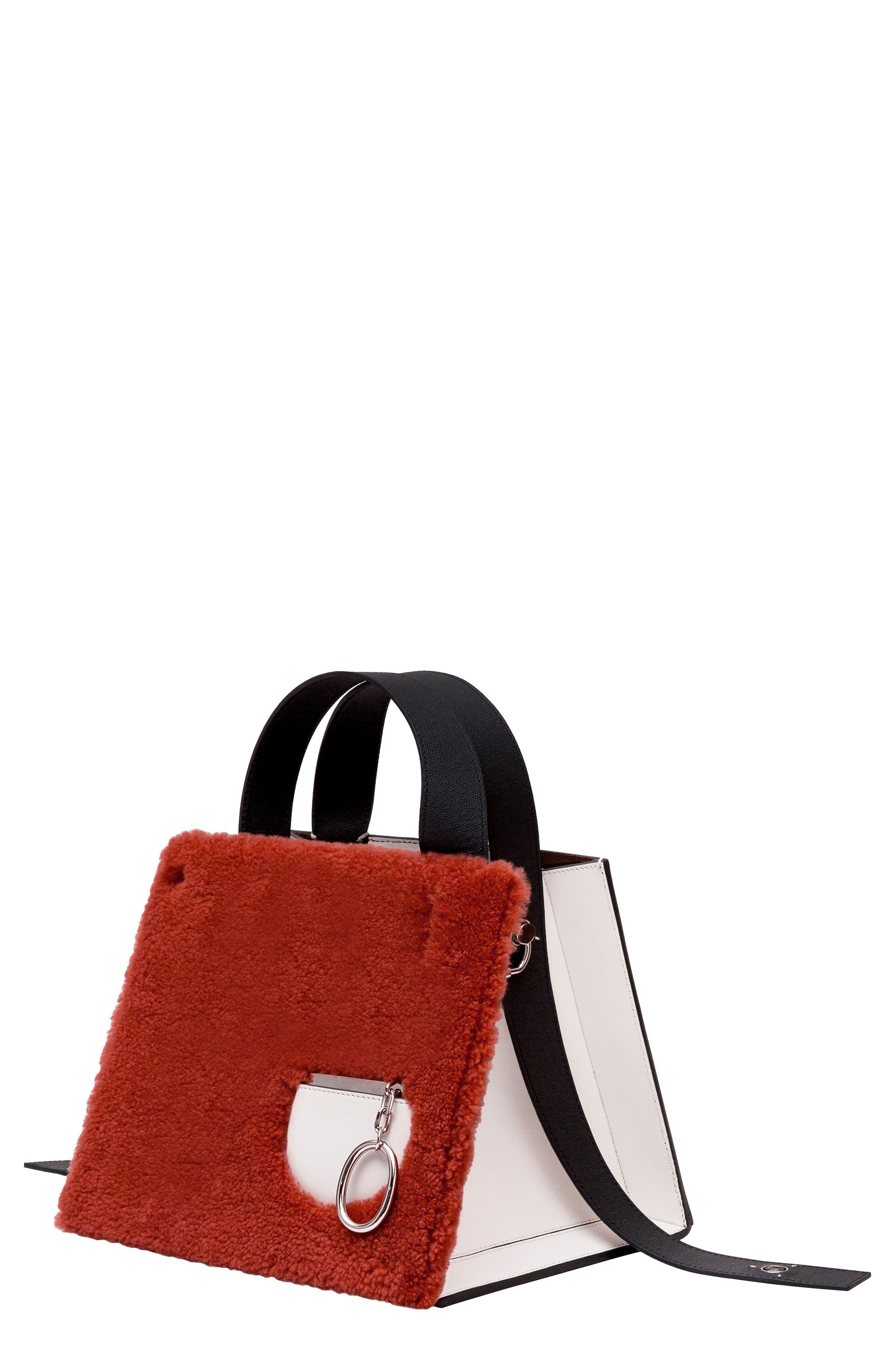 e4750da2e Danse Lente Margot Leather & Genuine Shearling Tote Bag - Brown In  Shearling Brick