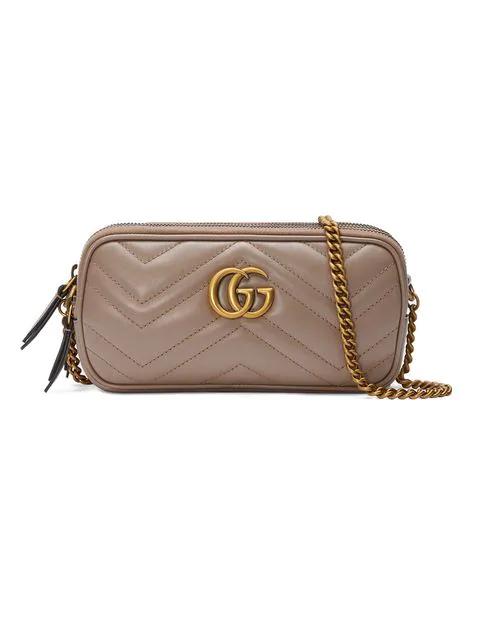 8fa1247df Gucci Marmont 2.0 Leather Crossbody Bag - Beige In Neutrals | ModeSens