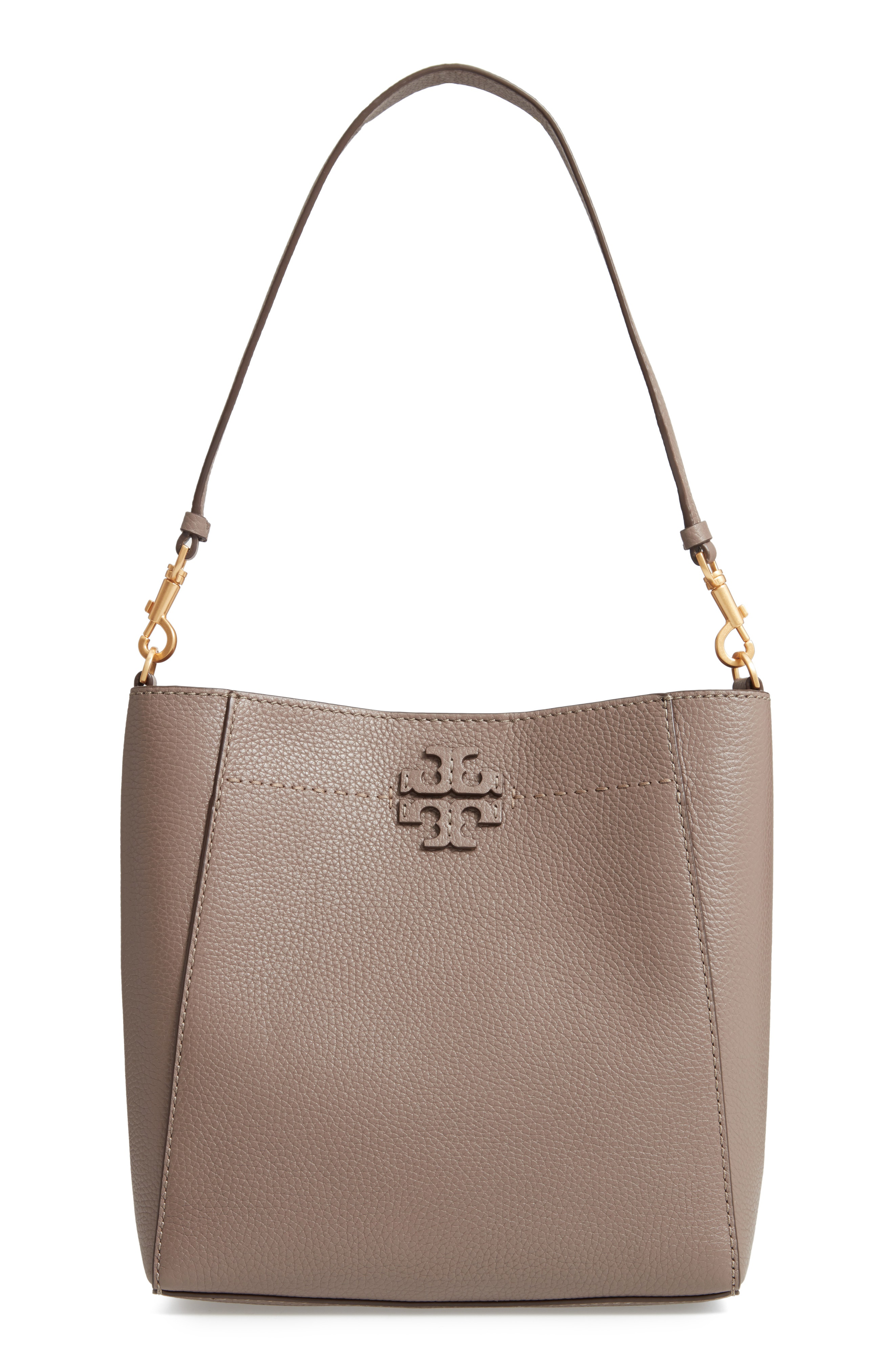 881398ef4a865 Tory Burch Mcgraw Leather Hobo Bag In Silver Maple