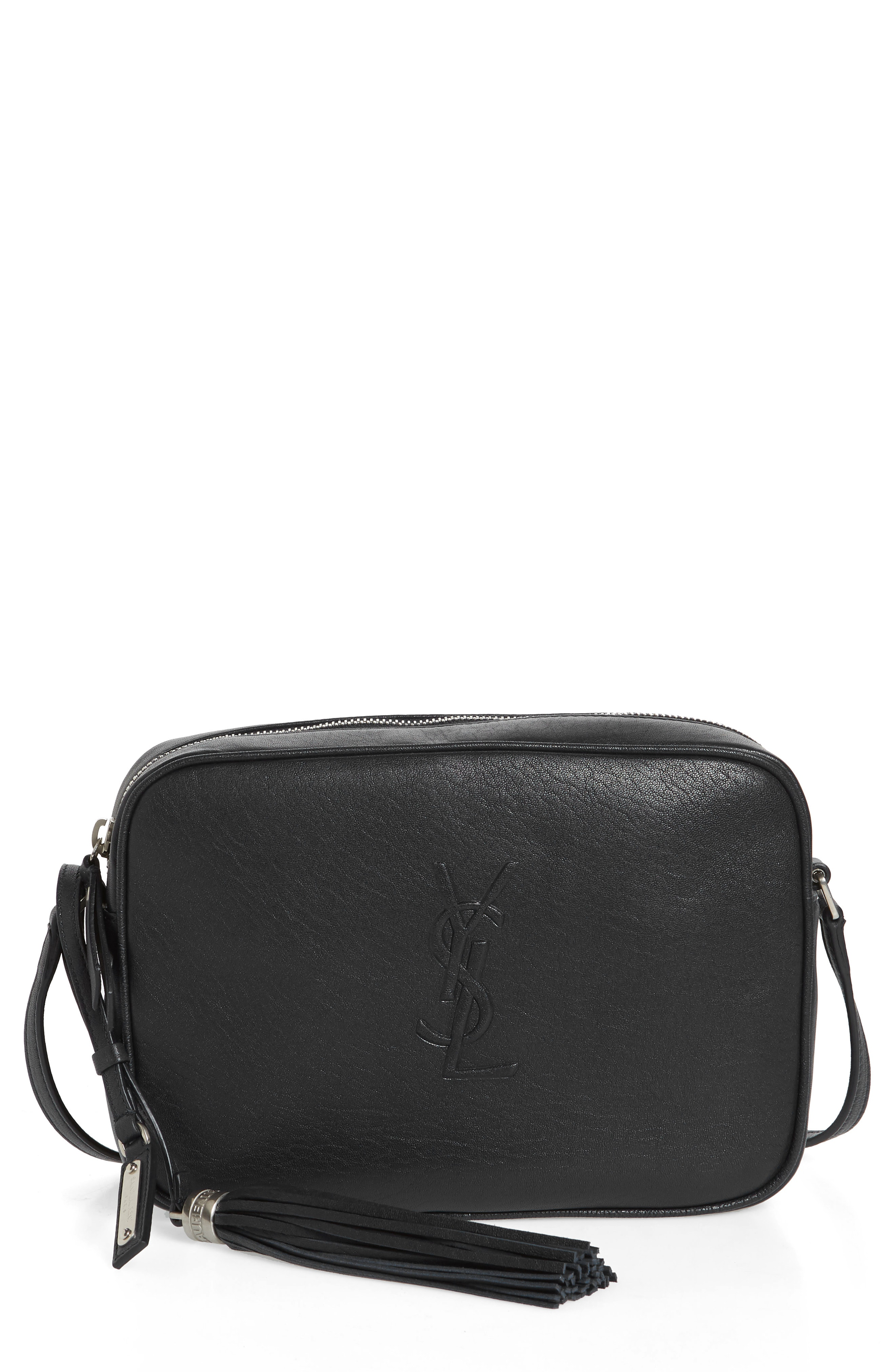 b34c8777b3 Style Name  Saint Laurent Small Mono Leather Camera Bag. Style Number   5631613. Available in stores.
