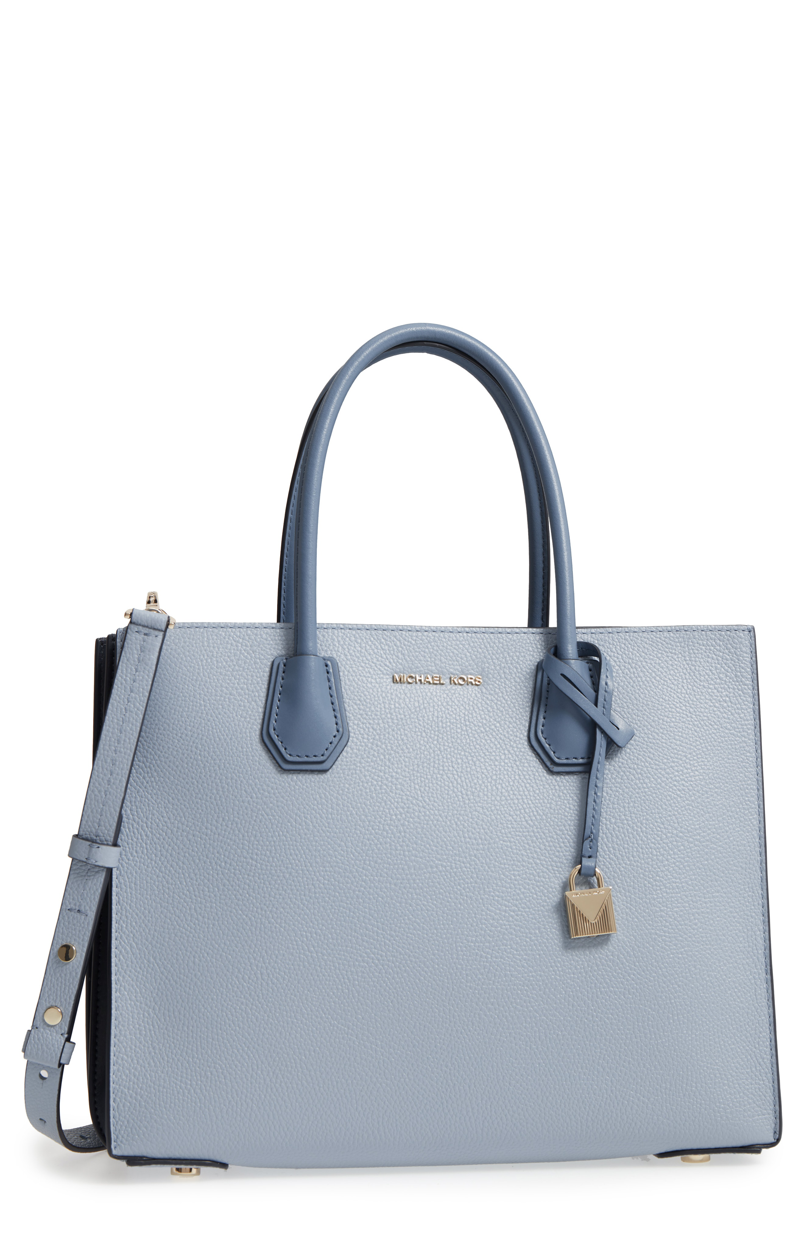 ae9a527077a777 Michael Michael Kors Large Mercer Leather Tote - Grey In Pearl Grey. SIZE &  FIT INFORMATION