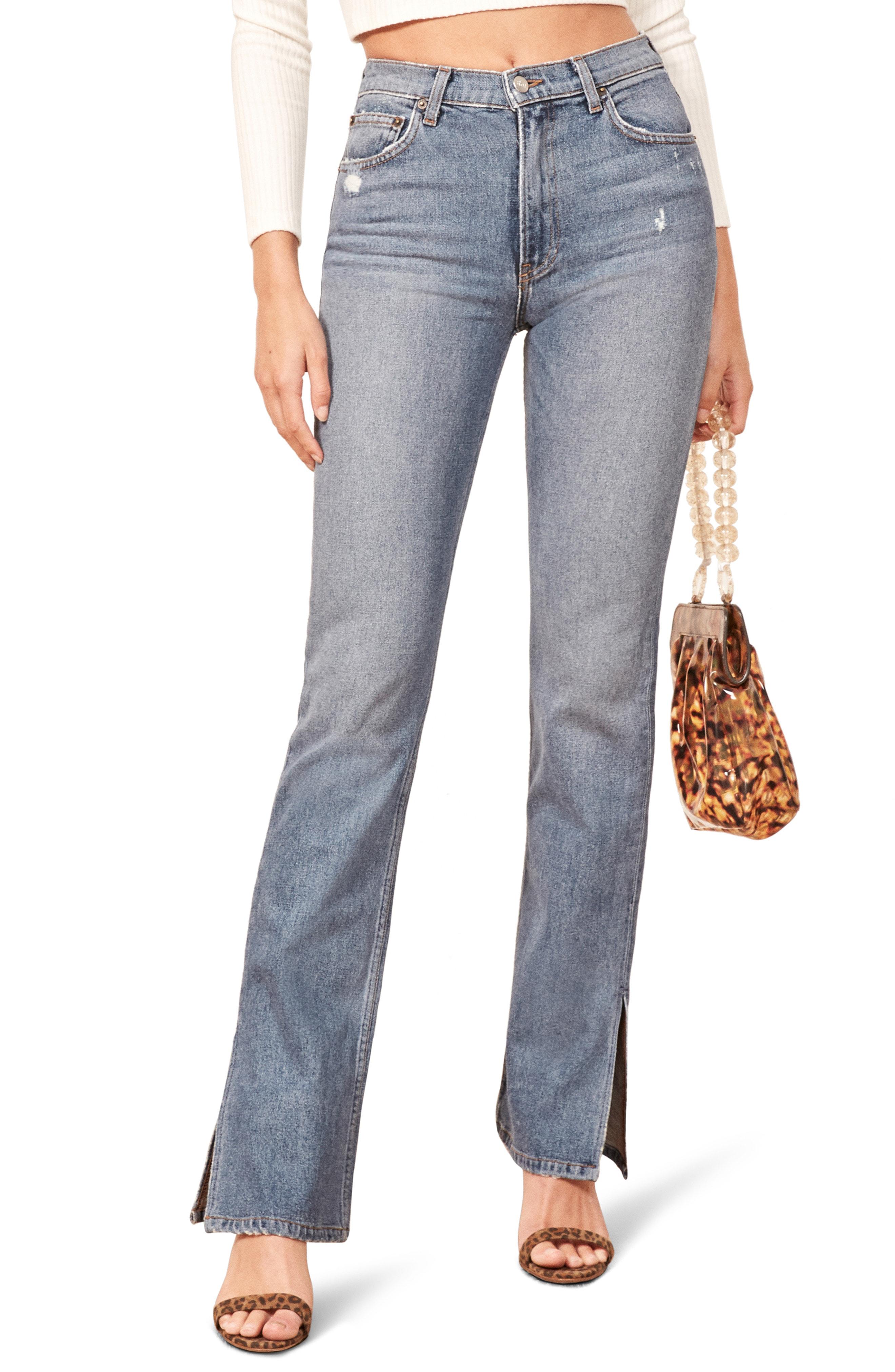 13b266417001 Reformation Perri Flare Jeans In Lanai | ModeSens