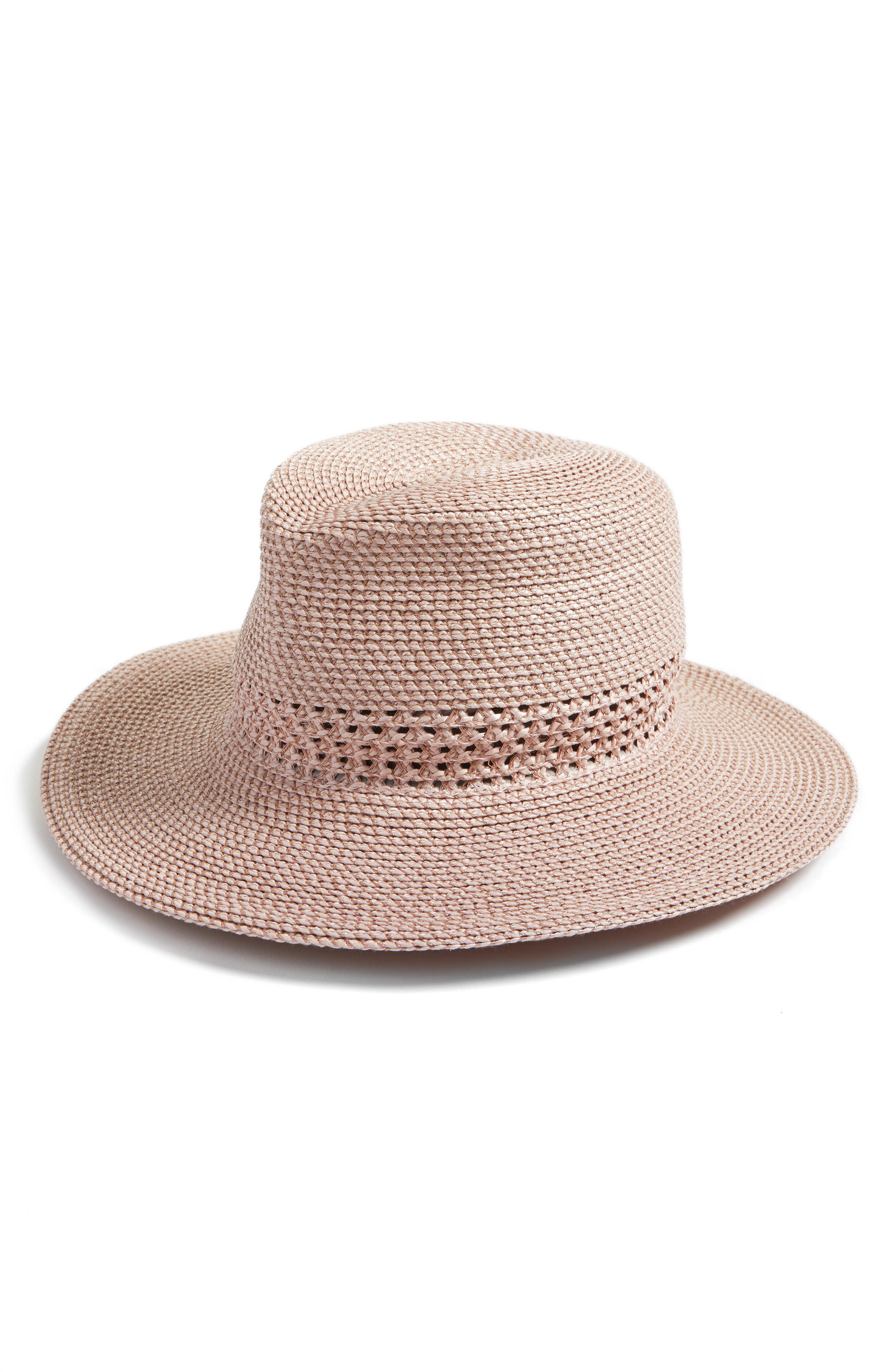 a3a5468143a14 Eric Javits Bayou Packable Squishee Fedora - White In White Mix ...