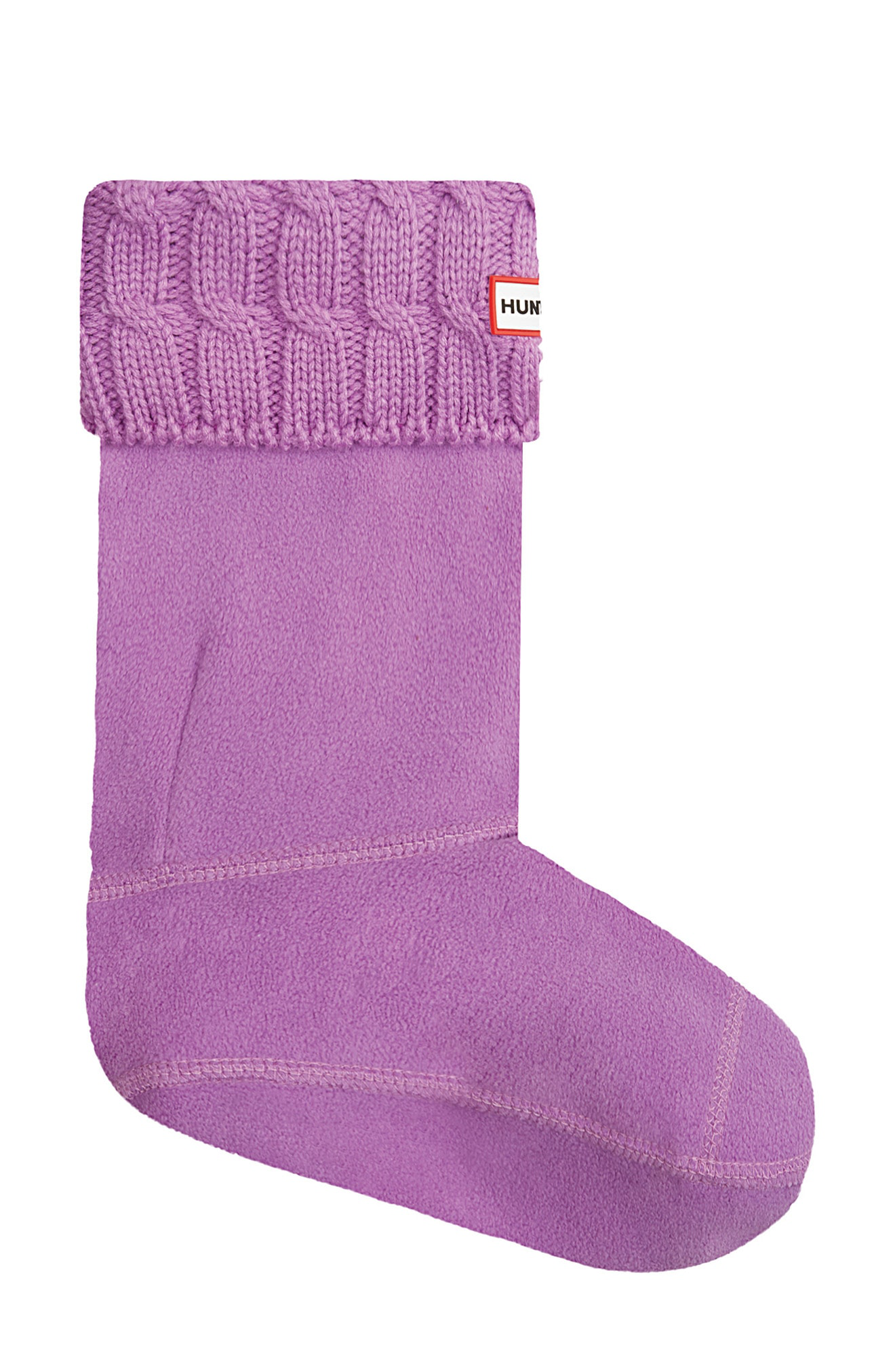 5df9a717453f0 Hunter Original Short Cable Knit Cuff Welly Boot Socks In Thistle ...