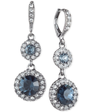 ce5277513 Givenchy Round Crystal Double Drop Earrings In Hematite | ModeSens