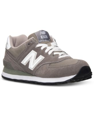 8bb6722b60b New Balance Women s 574 Core Casual Sneakers From Finish Line In Grey