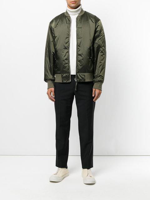 17ea7e88a Helmut Lang Reversible Satin Bomber Jacket, Blue/Gray In Olive ...