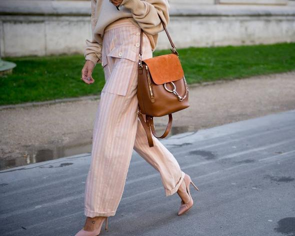 ChloÉ  Faye  Small Suede Flap Leather Backpack In 151 Tan  bbf7558a1f38b