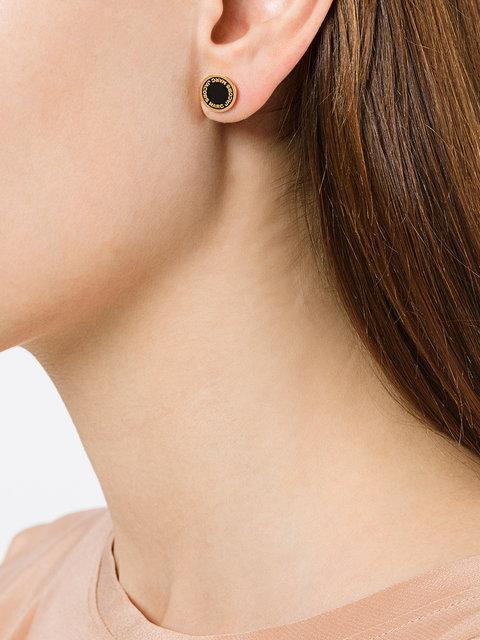 540f3113c Marc Jacobs Enamel Logo Disc Stud Earrings In Metallic | ModeSens