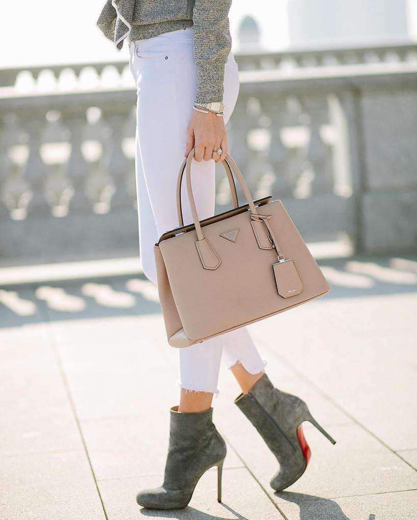 Prada Saffiano Lux Small Double-Zip Tote Bag 0b6646fbaaecb