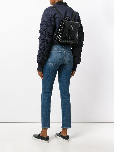 a9ca6dc217 Saint Laurent Small Loulou Backpack In Black