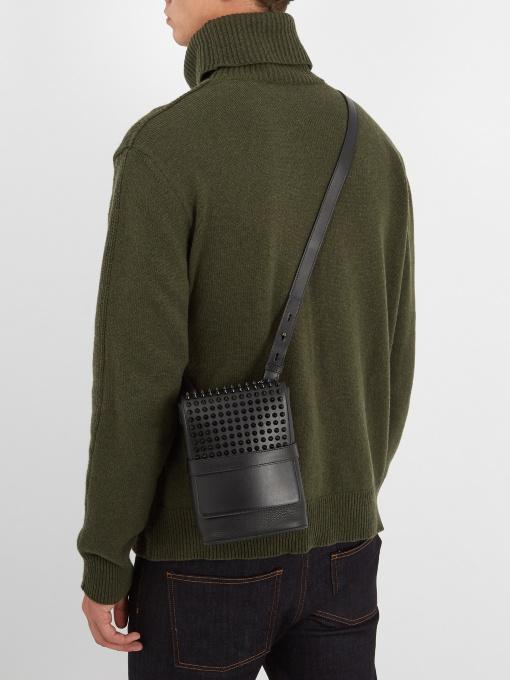 a3bb87ac0c7 Christian Louboutin Benech Reporter Studded Leather Cross-Body Bag ...