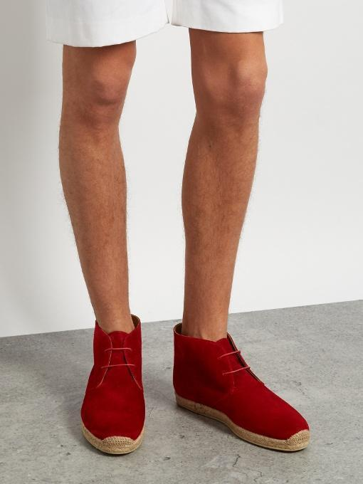 85fb73fc7512 CHRISTIAN LOUBOUTIN Christian Louboutin - Neocadaques Lace Up Suede  Espadrilles - Mens - Red
