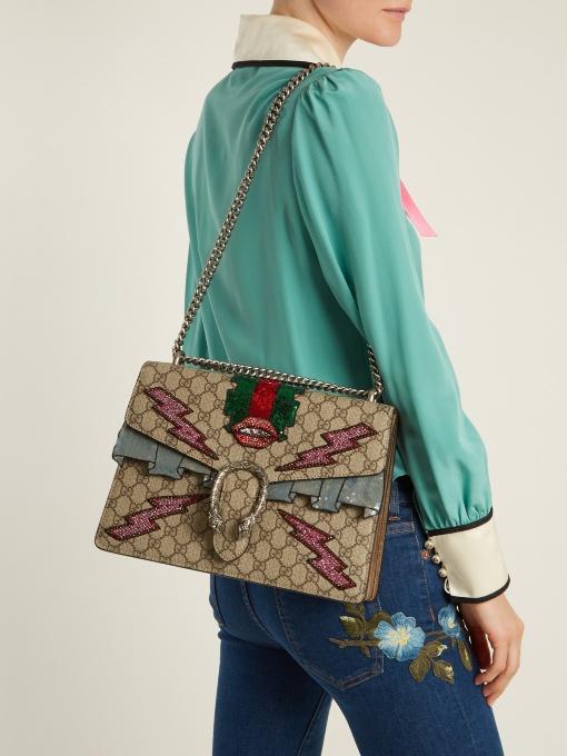 9c4660f31a6d Gucci Dionysus Medium Gg Shoulder Bag In Multi