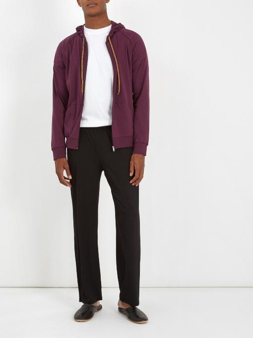 2671e10a34ed Paul Smith Concealed-Hood Zip-Through Cotton Sweatshirt In Burgundy ...