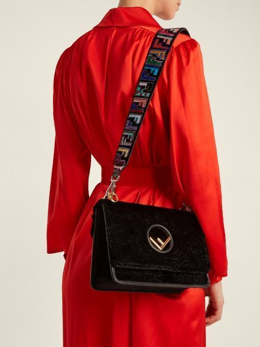 b8b2a3f54b658 FENDI Fendi - Strap You Logo Print Velvet Bag Strap - Womens - Black Multi