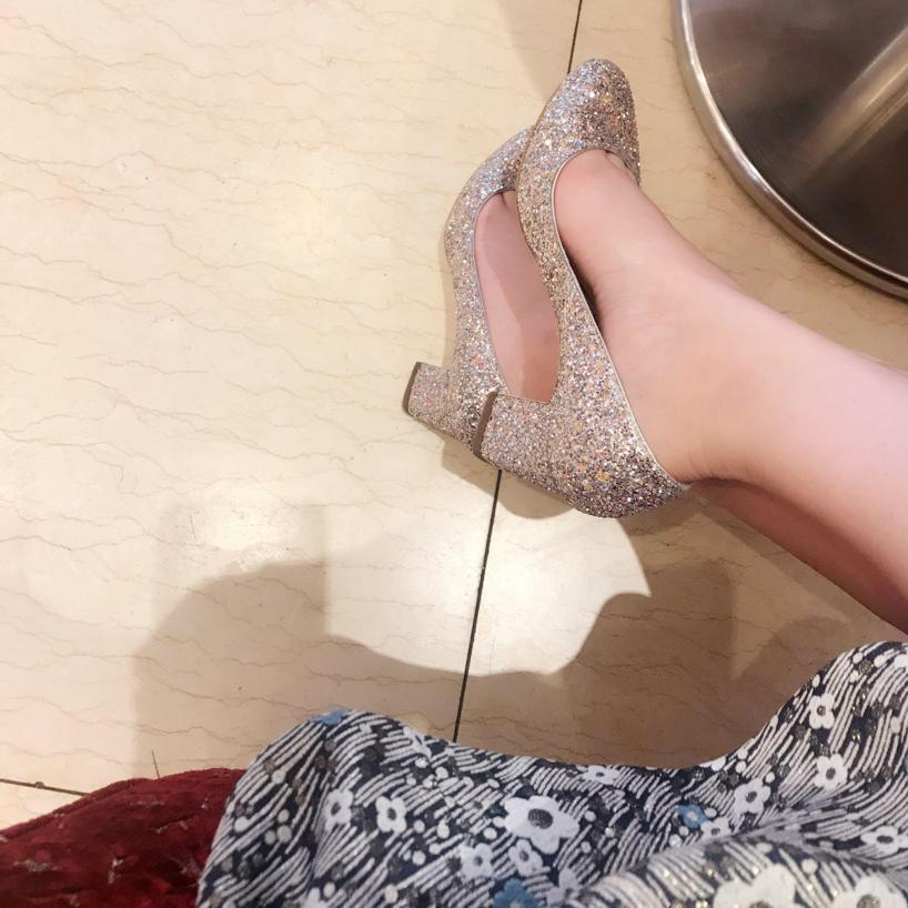 2ccf55476bc6 JIMMY CHOO Woman Billie Glittered Leather Pumps Pastel Pink in Light Pink
