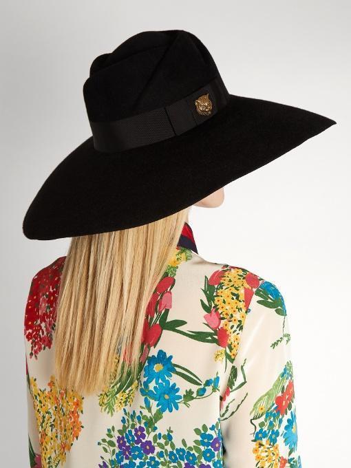 3b905992a Gucci Sereno Fur Felt Hat - Black