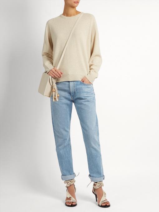 78e4084cc7 Isabel Marant Clash Slit-Back Sweater In Ivory