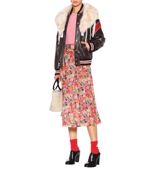 58a022d5 Ganni Seneca Floral-Printed Silk Skirt In Multicolor | ModeSens