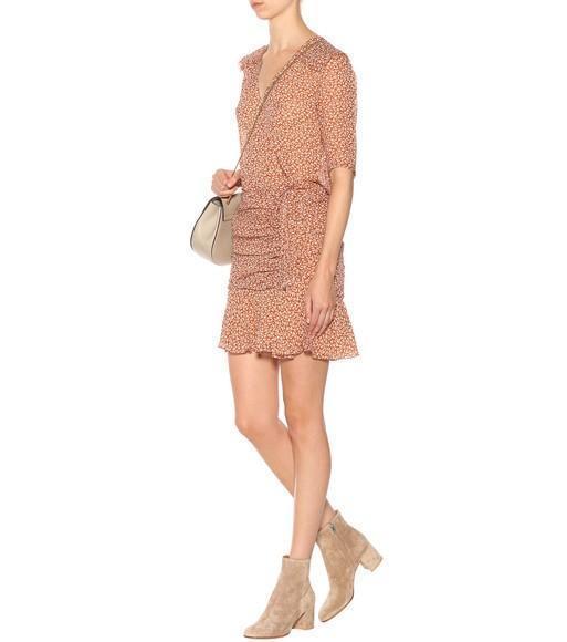 e995554dc71 Veronica Beard Dakota Printed Silk Dress In Cream Rust