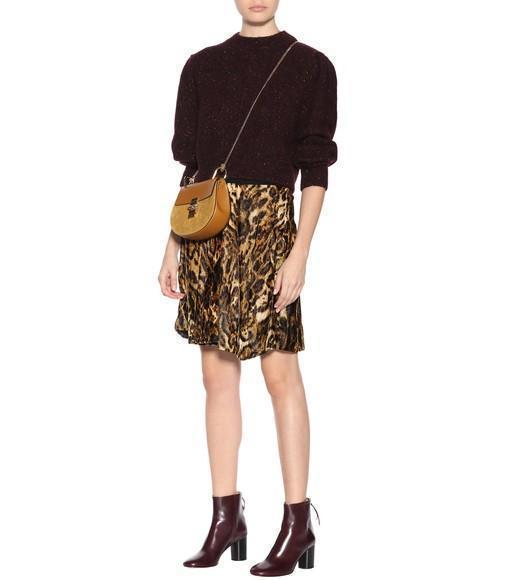 2f43898dfe08 Isabel Marant Tursanne Asymmetric-Hem Leopard-Print Velvet Skirt ...