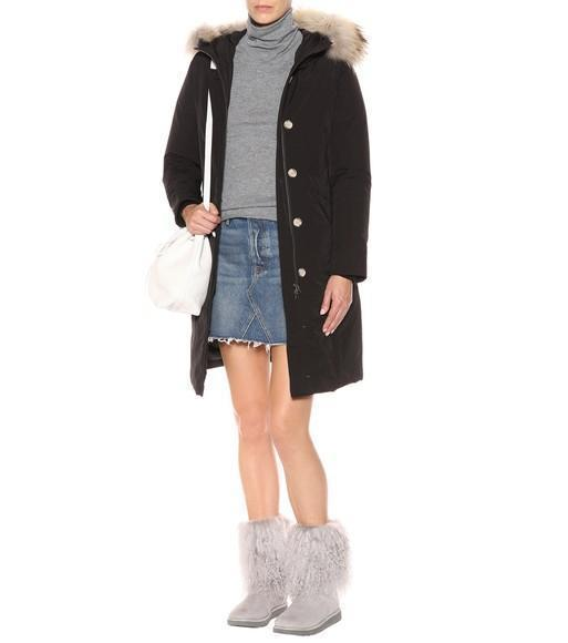 c9e09e6eece Lida fur and suede ankle boots