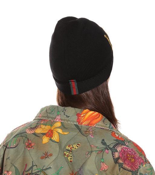 Gucci Loved Black Wool Beanie  9bed120b8ca