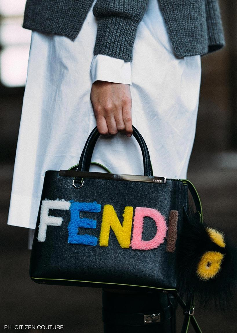 0840ad32c9 FENDI 2Jours Small Shearling-Appliquéd Textured-Leather Shopper in Black  Multi