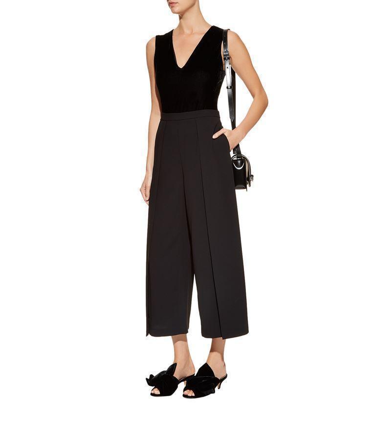 9a662299532ab ALICE AND OLIVIA Alice + Olivia Marley V-Neck Velvet Bodysuit in Black