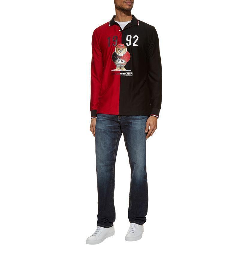 03cdf035f Ralph Lauren Colour Block Bear Polo Shirt In Black